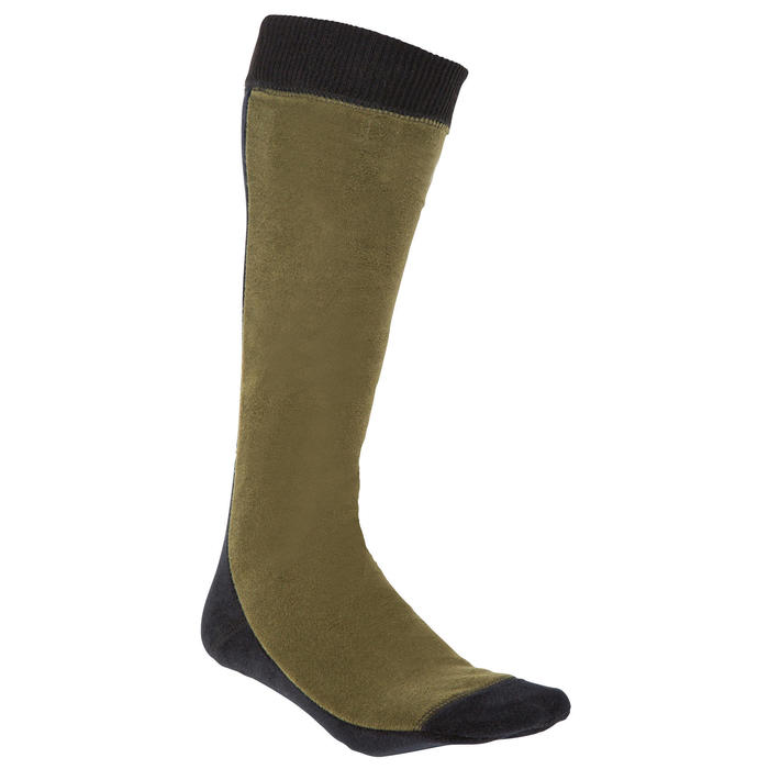 Chaussette chasse polaire Steppe 500 marron - 69509