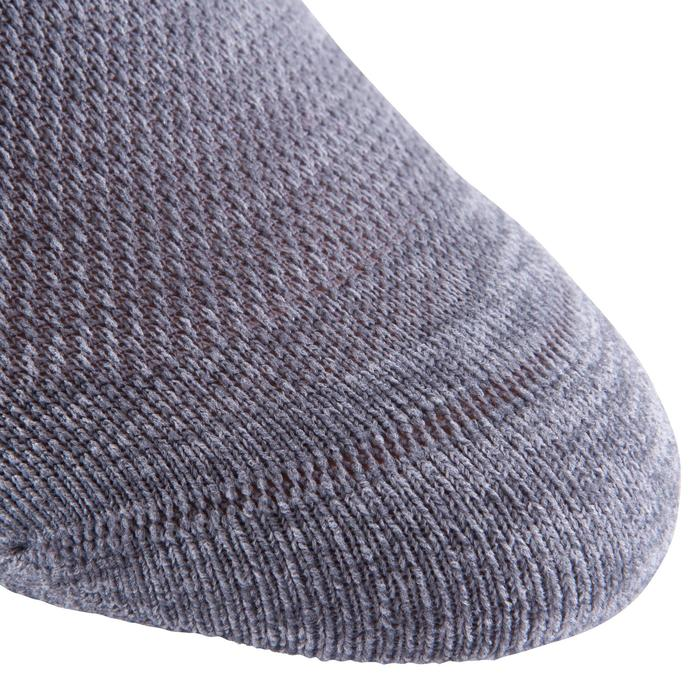 Calcetines invisibles fitness cardio training x2 gris