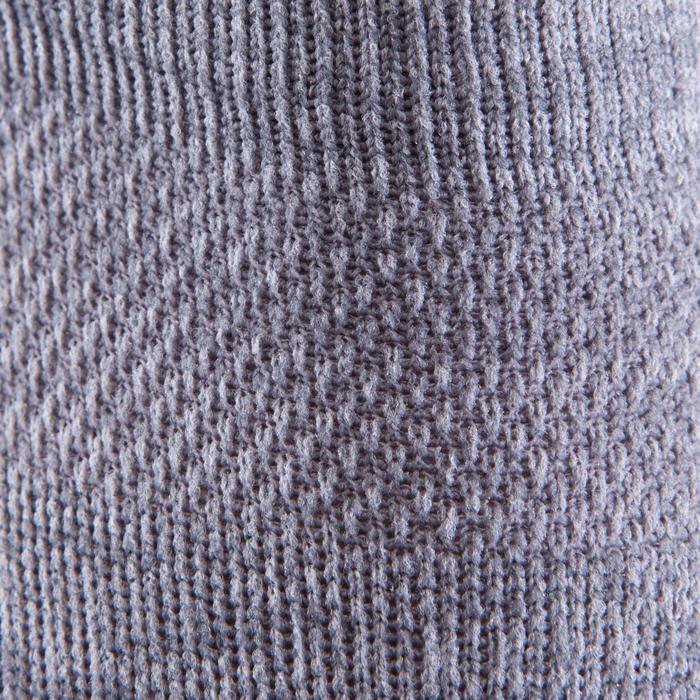 Onzichtbare fitnesssokken cardiotraining 2 paar grijs