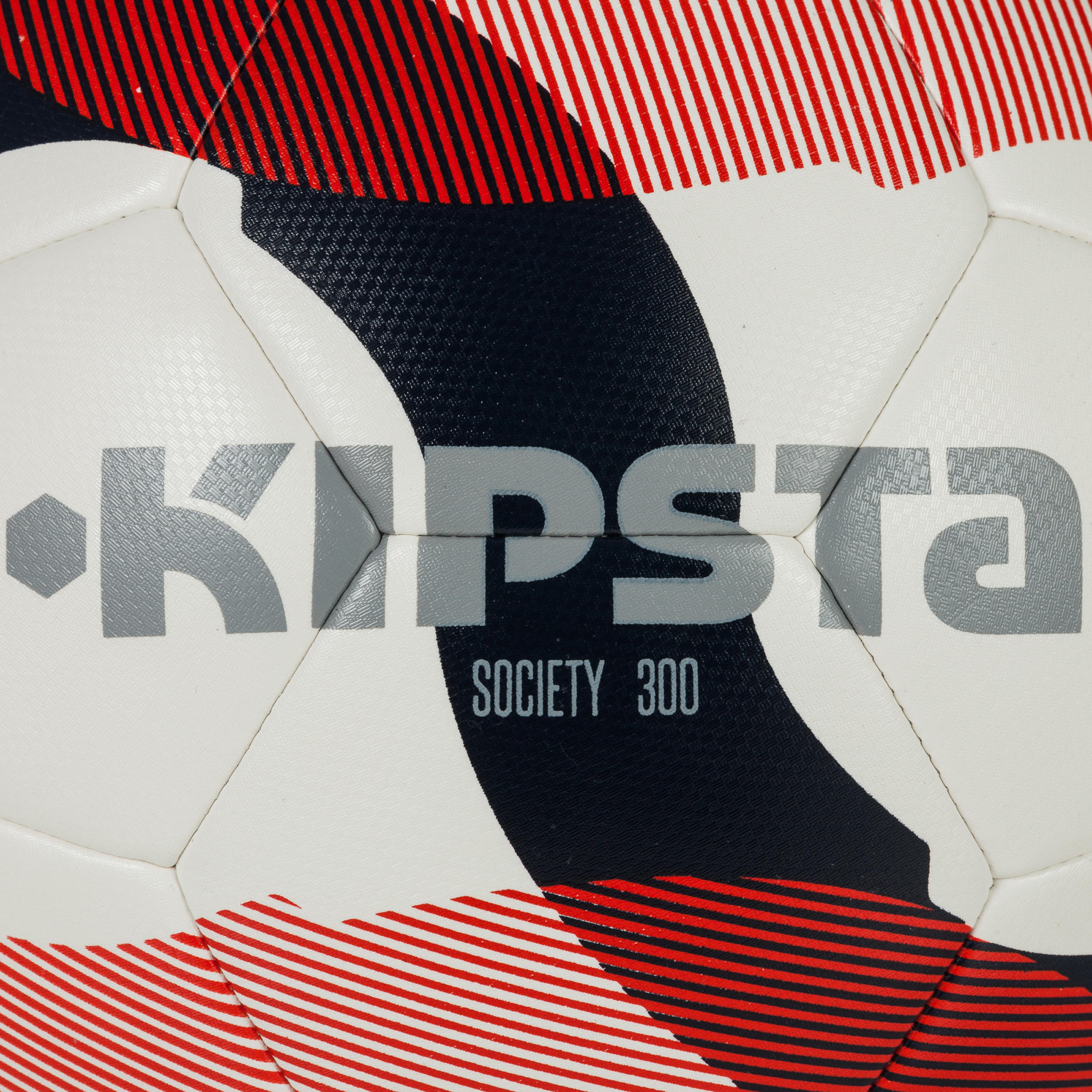 Voetbal Society 300 hybride maat 4 wit-blauw-rood