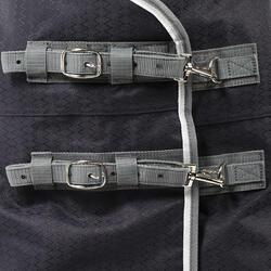 Buitendeken Allweather 300 1.000 D kastanjebruin - pony en paard - 69553