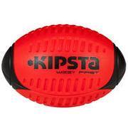 Rdeča ragbijska žoga iz pene WIZZY (velikost 3)