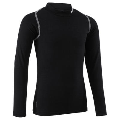 Camiseta térmica transpirable mangas largas niños Keepdry 100 negro