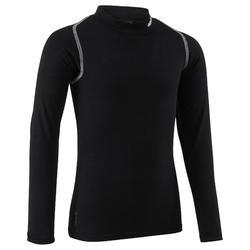 Camiseta térmica transpirable manga larga niños Keepdry 100 negro