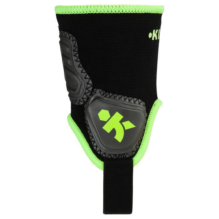 Enkelbeschermer Ankle protector voor voetbal volwassenen zwart/geel