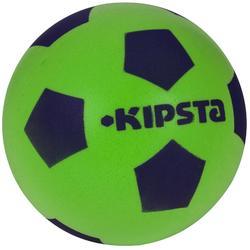 Bal voor zaalvoetbal van schuim maat 4 groen
