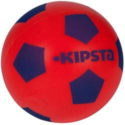 Bal voor zaalvoetbal van schuim maat 4 rood