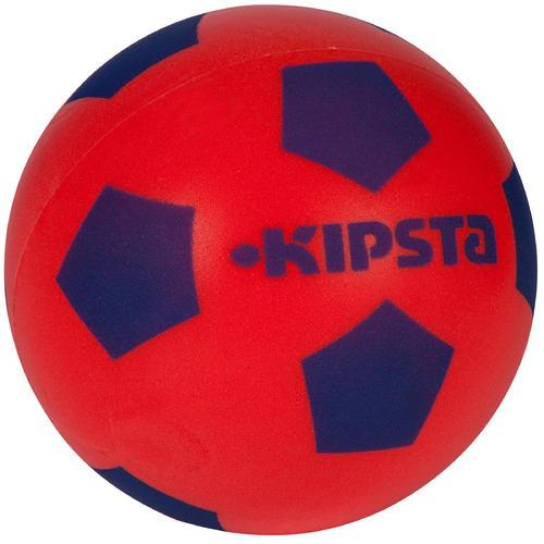 Ballon football en mousse 300 taille 4 rouge bleu