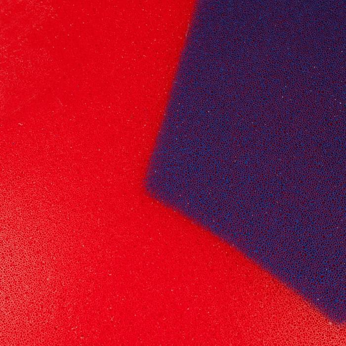 Mini schuimstof zaalvoetbal 300 rood/blauw