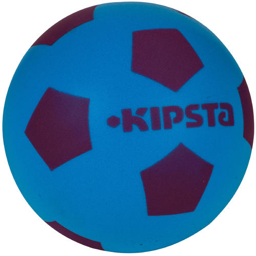 Mini ballon de football en mousse 300  bleu violet
