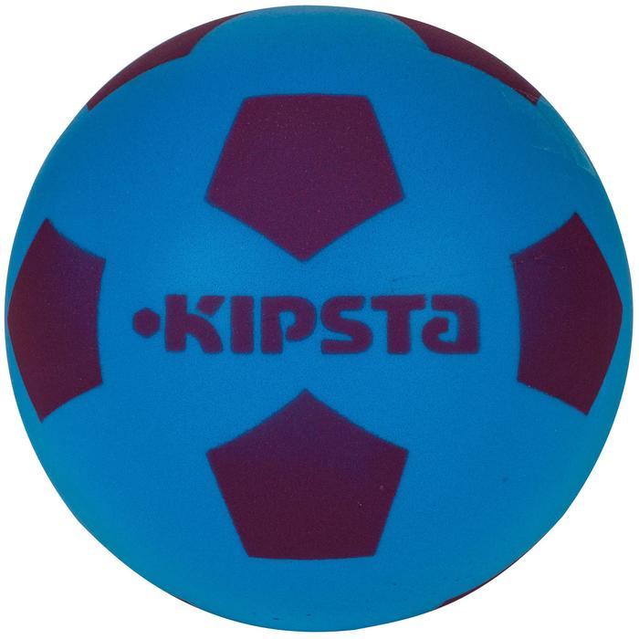 Mini schuimstof zaalvoetbal 300 blauw/paars