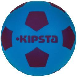 Minibal voor zaalvoetbal van schuim blauw