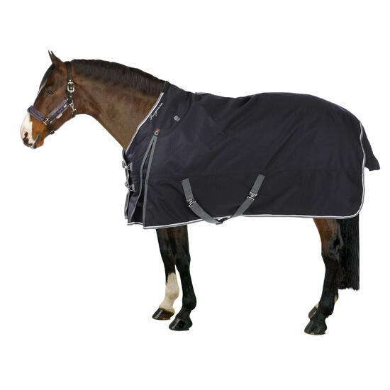 Buitendeken Allweather 300 1.000 D kastanjebruin - pony en paard - 69602