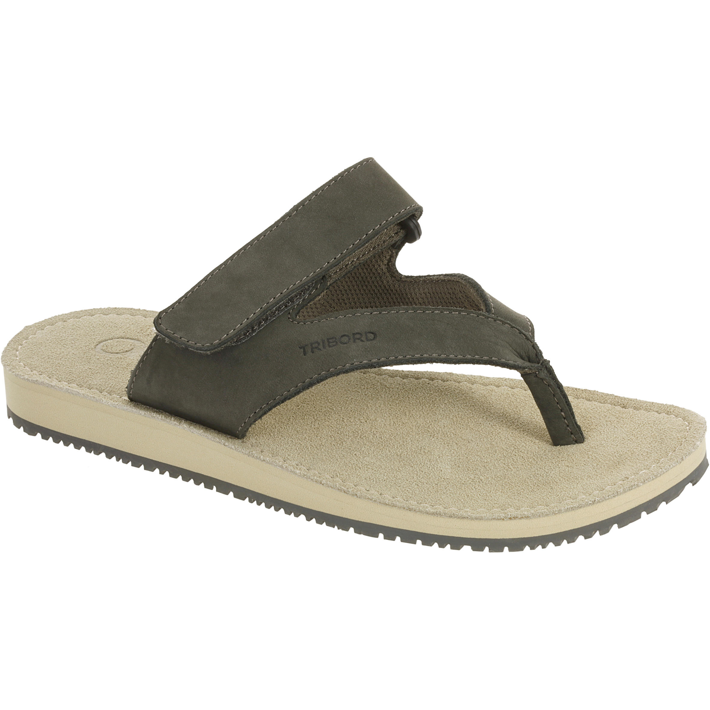 TO 900 W Women's Leather Flip-Flops - Grey