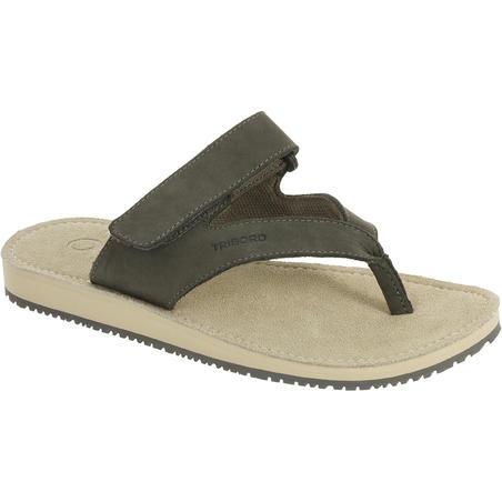 Women's Leather Flip-Flops 900 - Grey