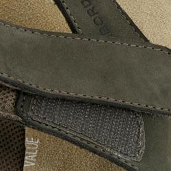 女款皮革夾腳拖TO 900-灰色皮革