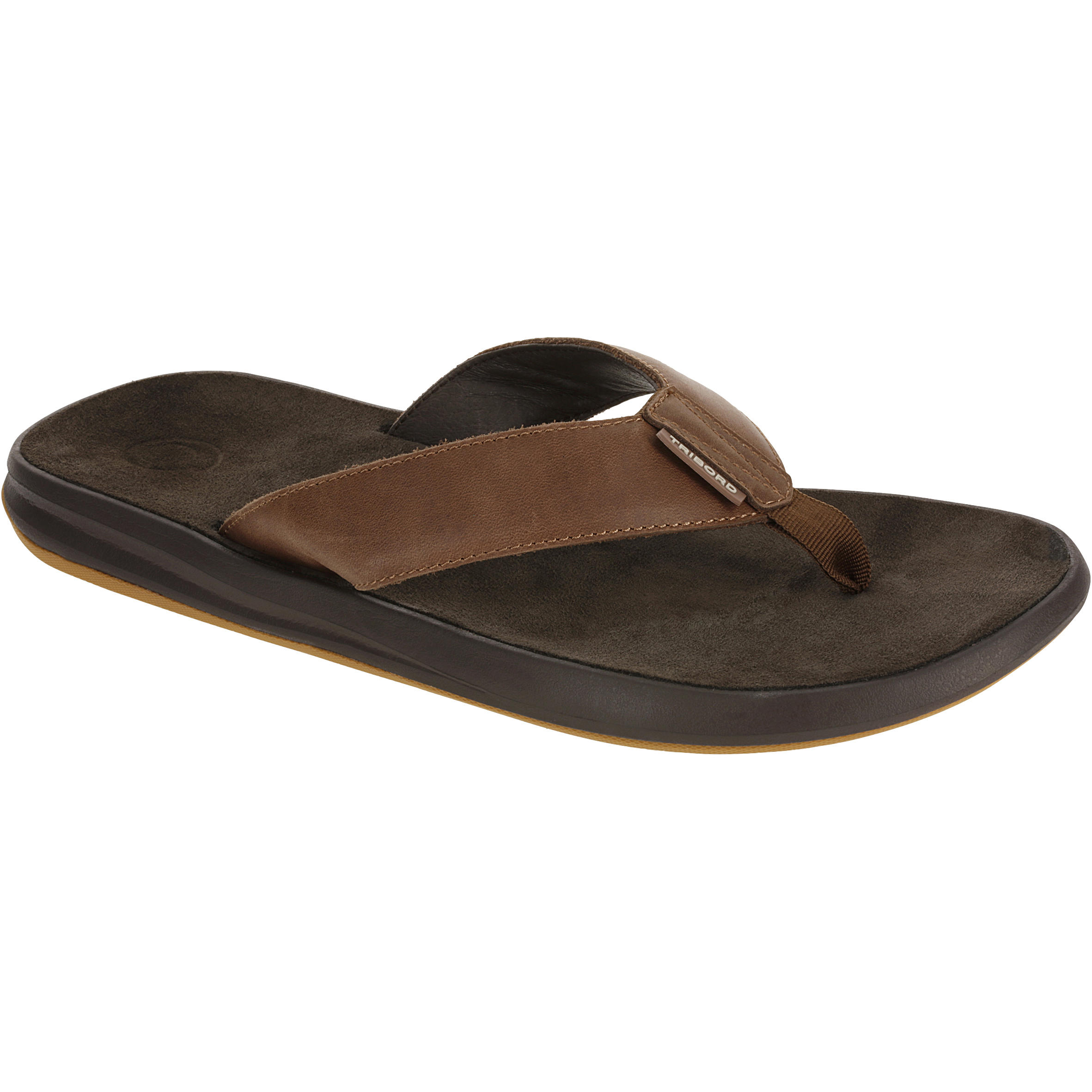 TO 950 M Men's Leather Flip-Flops - Brown