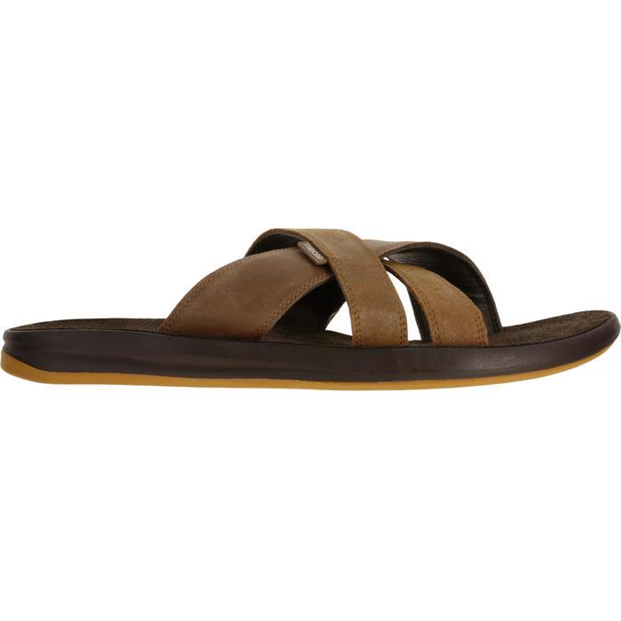 Chanclas De Playa Surf Olaian Slap 950 Hombre Piel Marrones