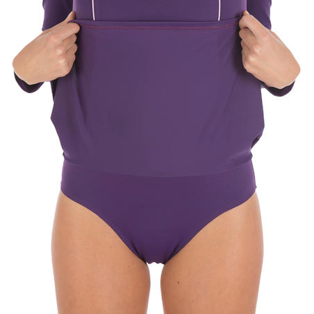 Audrey Women's Long Sleeve Swimsuit - Purple