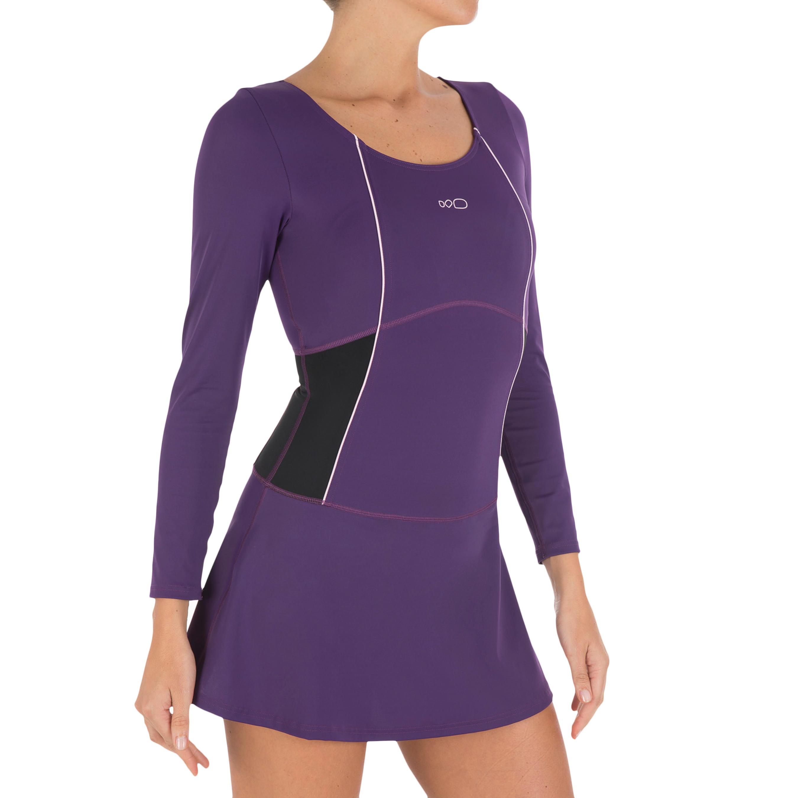 Audrey Women's Long Sleeve Swimsuit - Purple