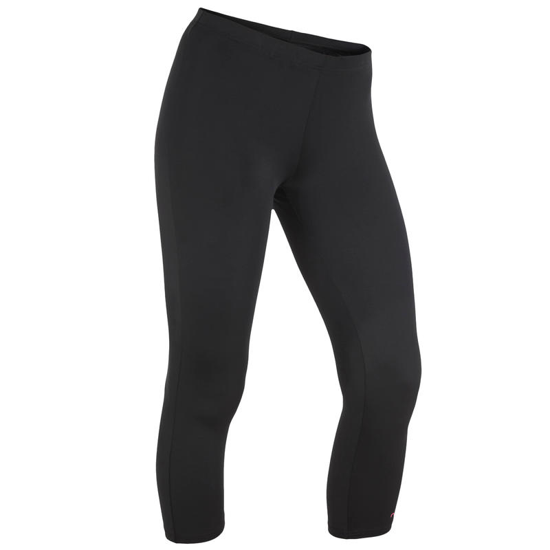 Women's Cropped Swim Leggings - Black