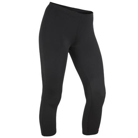 Women's mid-leg suit legging swimsuit bottoms - Black