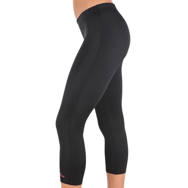 กางเกงว่ายน้ำทรงเลกกิ้งขาสามส่วน (สีดำ)
