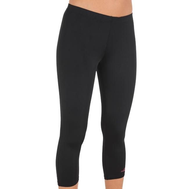 Women Swim shorts mid leg - black