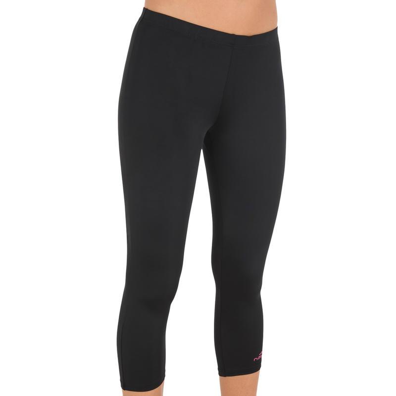 Mid Leg Suit Leggings Swimsuit Bottoms Black