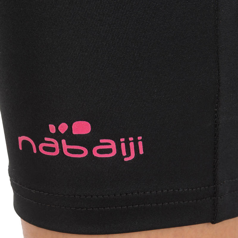 Women Swim shorts mid leg - black