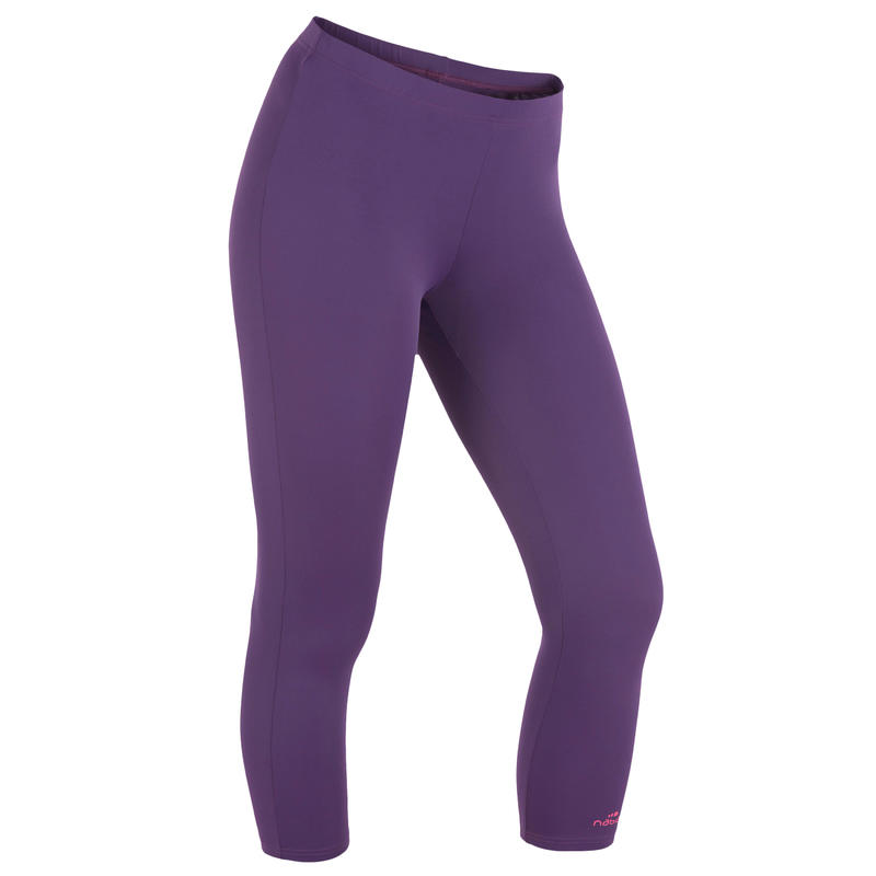 Mid Leg Suit Swimsuit Bottoms - Dark Purple