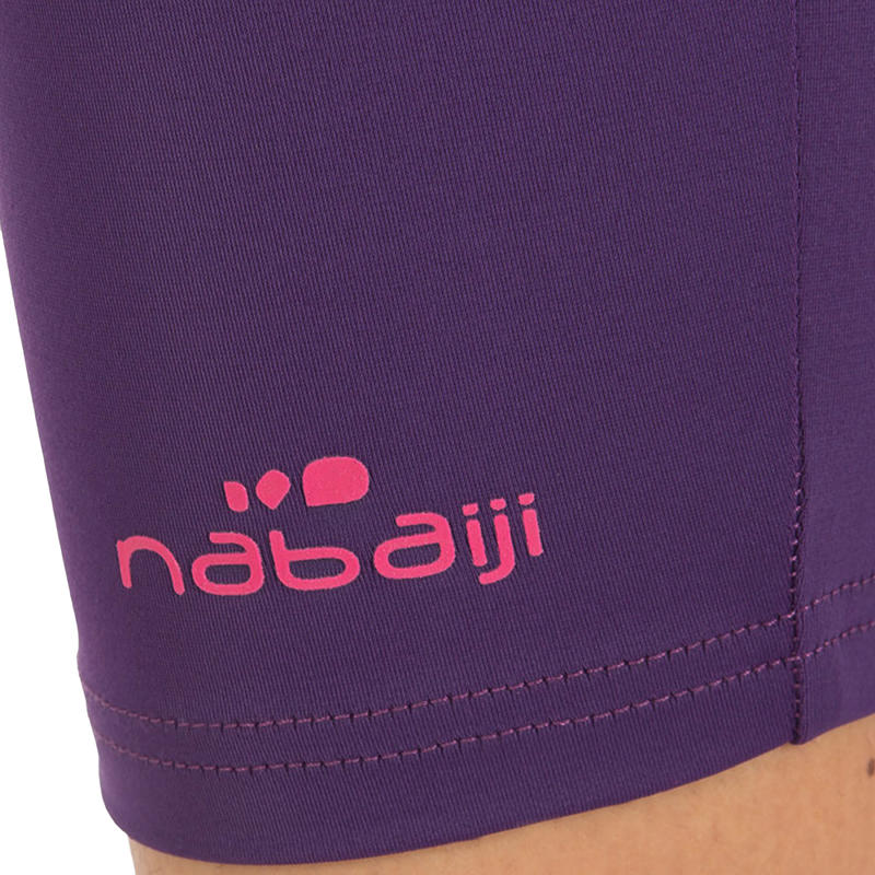 Mid Leg Suit Swimsuit Bottoms - Dark Purple