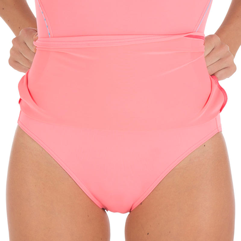 Riana women's skirt style swimsuit - Allknit pink