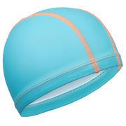 Modra mrežasta plavalna kapa s silikonsko prevleko