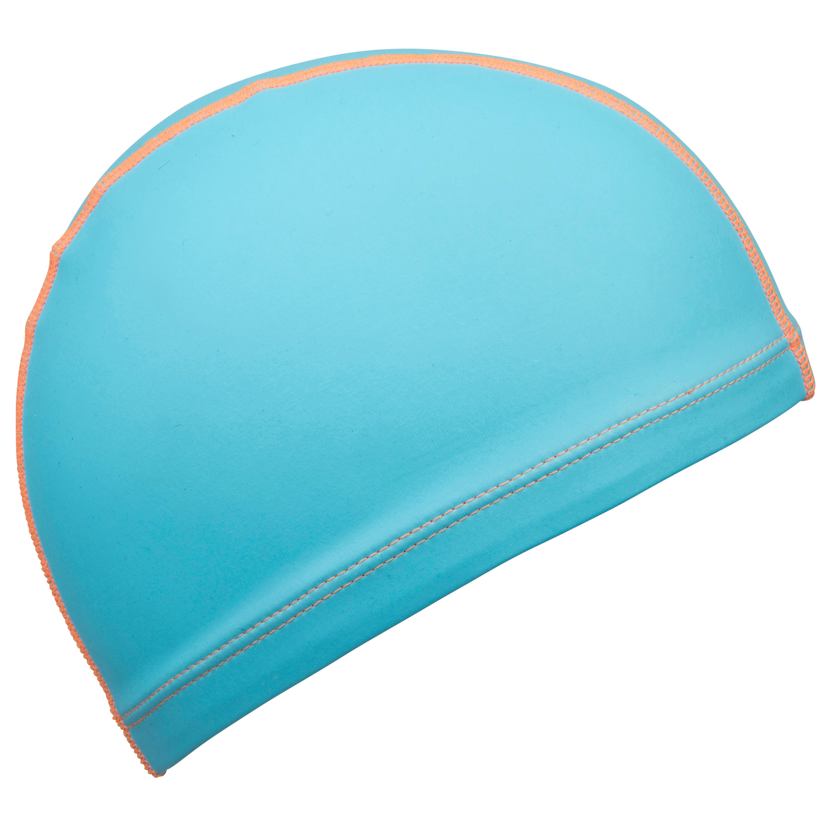 Silicone Plain Mesh Swim Cap - Blue