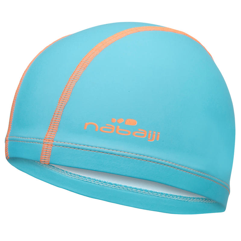 Silicone Coated Mesh Swim Cap - Plain Blue