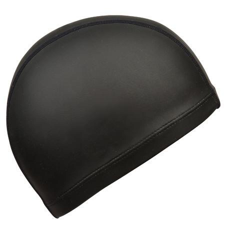 Silicone Mesh Swim Cap - Black