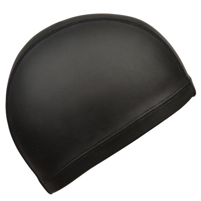 Badmuts textiel met silicone 500 zwart