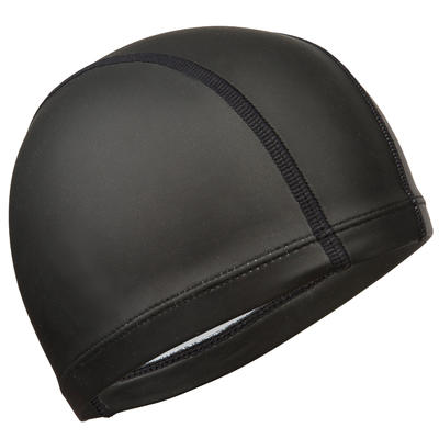 כובע שחייה פשוט מרשת סיליקון - שחור