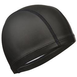 矽膠網眼游泳帽- 黑色