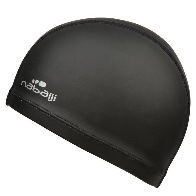SWIM CAP SILICONE MESH Size large - BLACK