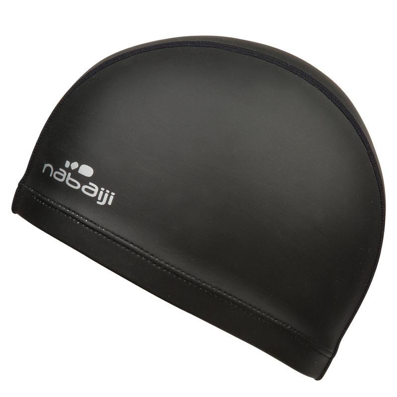 หมวกว่ายน้ำผ้าตาข่ายเคลือบซิลิโคน รุ่น 500 SILIMESH (สีดำ)