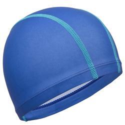 Stoffen badmuts met siliconen coating effen donkerblauw