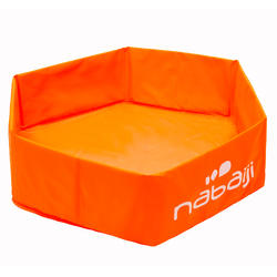 Piscinette enfant TIDIPOOL BASIC orange en mousse de 65 cm de diamètre