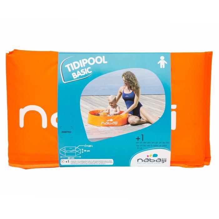 Piscinette enfant TIDIPOOL BASIC orange en mousse de 65 cm de diamètre