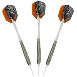 3 dartpijltjes Falcon 600, plastic punt