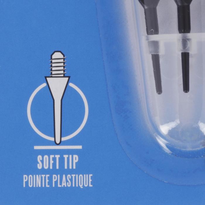 3 dartpijlen met plastic punt Vostok 100 blauw