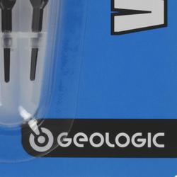 3 dartpijlen met plastic punt Vostok 100 zwart