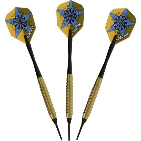 3 dartpijltjes Falcon 300, plastic punt - 697420