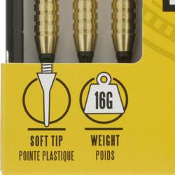 3 dartpijltjes Falcon 300, plastic punt - 697421